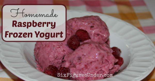 Homemade Raspberry Frozen Yogurt Recipe and Tutorial