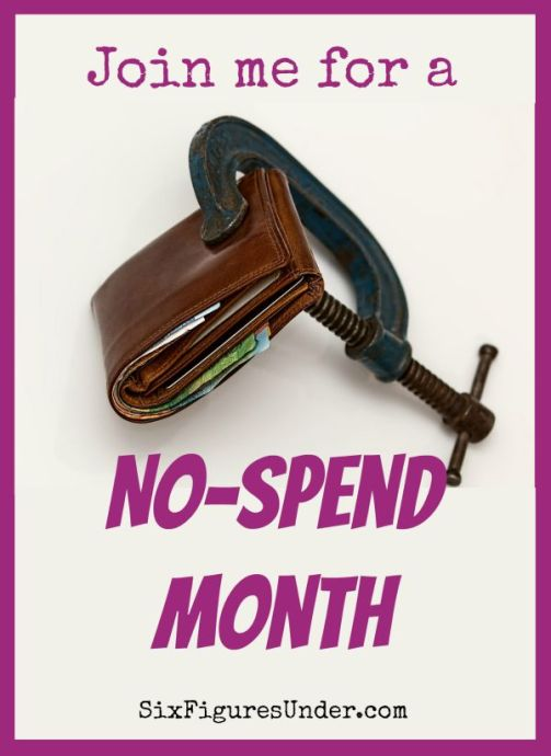 Want to make progress toward your savings or debt-free goal? Join me in having a no-spend month during September! Set your own rules and we'll encourage one another!