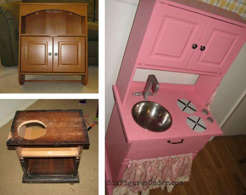 DIY Repurposed Play Kitchen