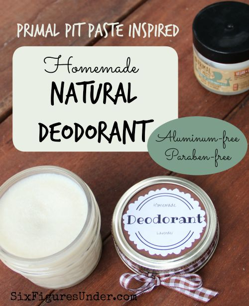 Homemade Deodorant-- Natural, Aluminum-Free-- Primal Pit Paste Inspired