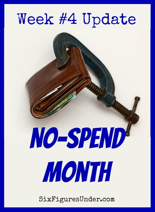 We've made it to the end of our no-spend month!  Here's our final report!