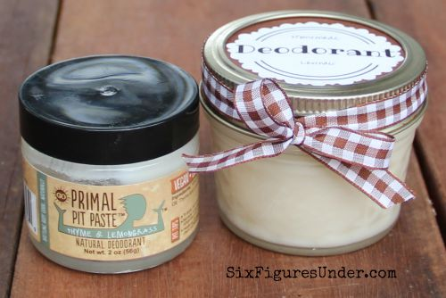 Avoid nasty chemicals with homemade deodorant. This Primal Pit Paste inspired natural deodorant is aluminum free, paraben free and even cheaper than the commercial stuff!