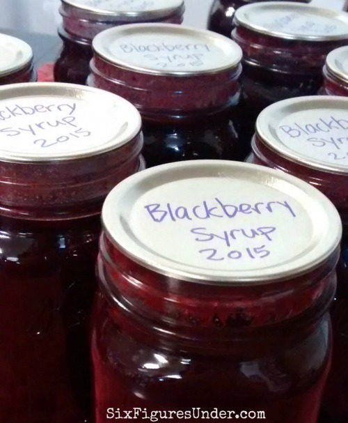 Homemade blackberry syrup makes a wonderful gift! It's delicious on pancakes, waffles, ice cream, cheesecake-- you name it! Here's a step-by-step recipe and tutorial!