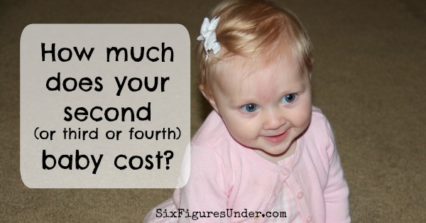 The cost of a subsequent baby-- What does it really cost to raise a child?