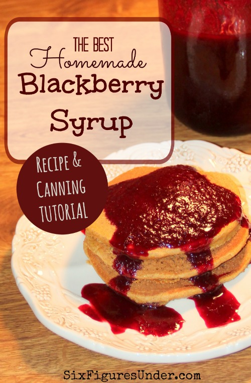 This is seriously the best Homemade Blackberry Syrup ever! It's wonderful on pancakes, waffles, ice cream, cheesecake-- you name it! You might even want to just grab a spoon. Here's a complete photo tutorial of the process!