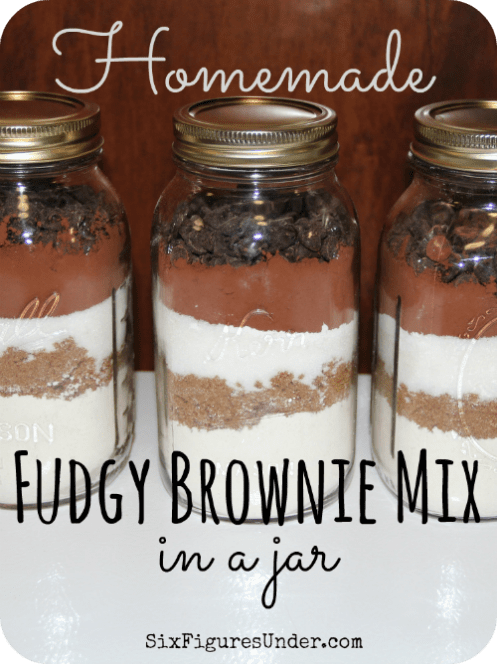 Homemade Fudgy Brownie Mix in a Jar-- Makes a great gift!