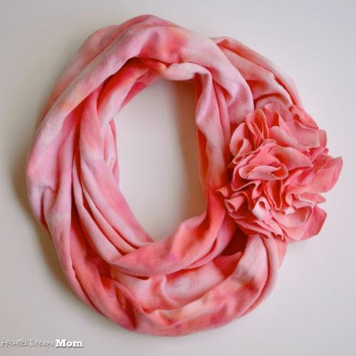 Iced dyed flower scarf-- Easy handmade gift idea
