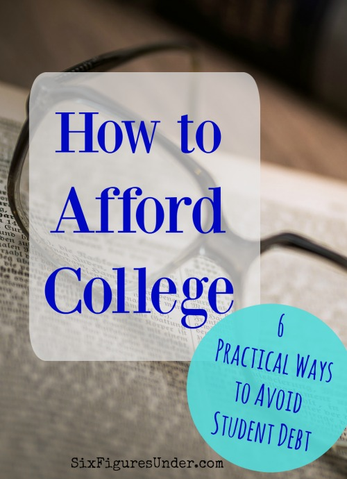With the cost of a college education rising, you'll want to make a plan early for how you are going to afford college for your children or yourself. Squirreling away the complete cost of a college education might not be possible, but don't let that stop you from doing something! Here are six strategies that helped me graduate debt free.