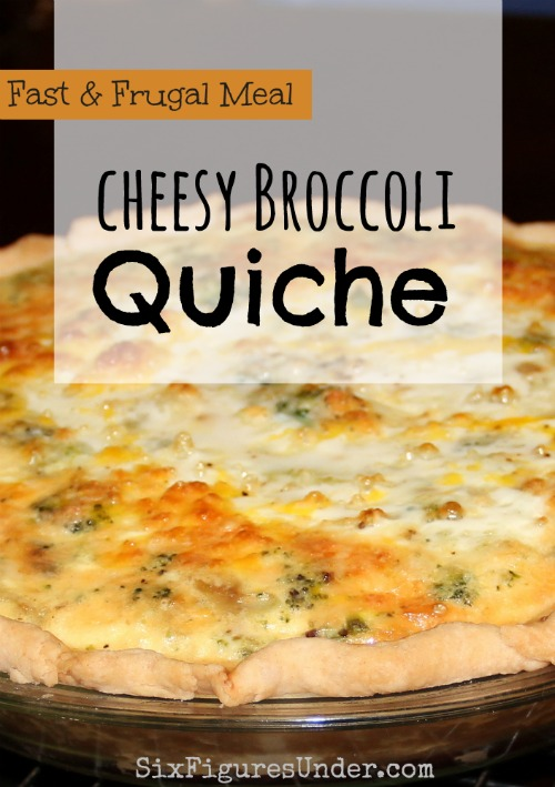 Sometimes quiche gets classified as a breakfast food because it's made with eggs, but not in our house.  Quiche is a dinner dish for us.  It's fast, frugal, and often meatless.  If it's not already in your dinner rotation, you should give it a try.