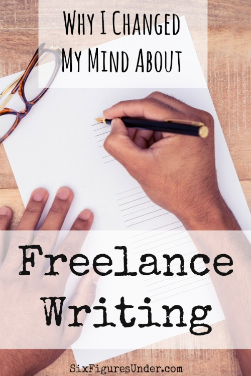 When I started blogging, I was decidedly against the idea of freelance writing as a side hustle. Recently I changed my mind about freelance writing. It has some perks that blogging doesn't have.