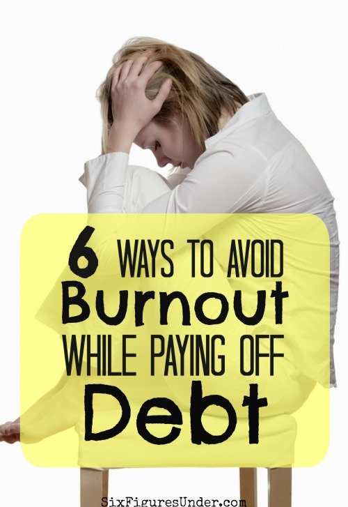 Chances are you'll experience burnout at some point in your debt payoff, especially if you're paying off a hefty sum of debt. Here are six tricks for avoiding burnout in your debt repayment!