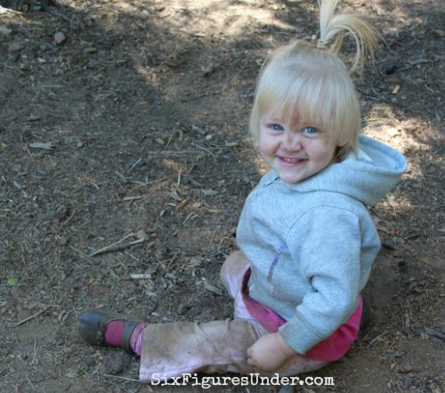 Who needs toys when you can just play in the dirt and eat sticks