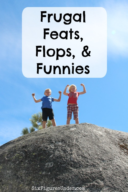 A frugal life doesn't have to be boring. In fact, sometimes being frugal means you choose the more adventurous road. Each week I like to reflect on some our frugal successes, failures, and times that make us laugh.