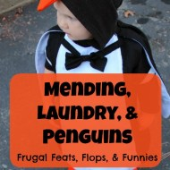 Mending, Laundry, and Penguins: Frugal Feats, Flops, and Funnies