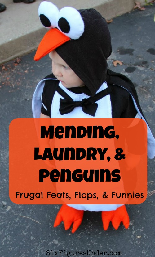Any other frugal folks hate mending like I do? Well this week's frugal feat involves some frugal mending, as well as some homemade laundry detergent.