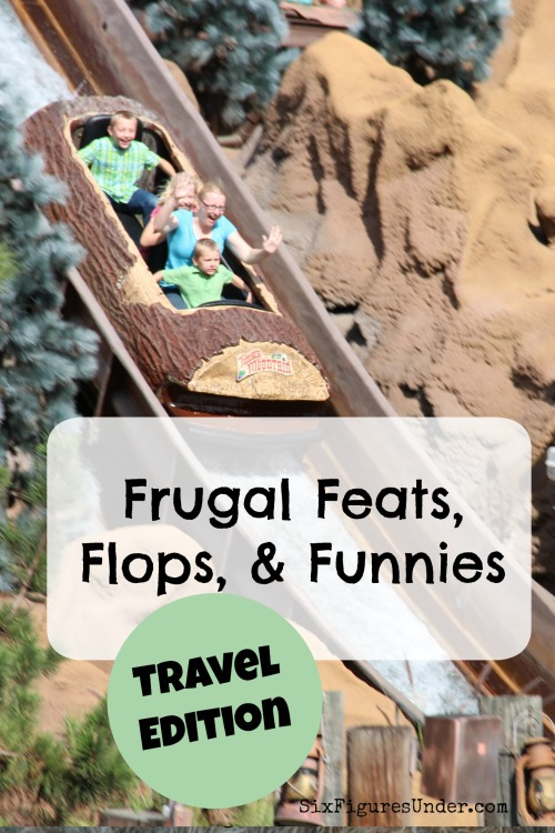 In this edition of frugal feats, flops and funnies, you'll read about the ER, plastic ponchos, and other road trip excitement!