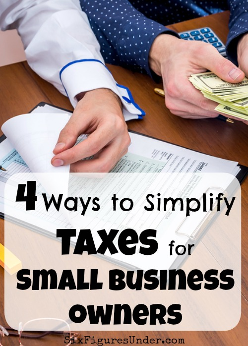 While it might be too late to help you this year, I want to share some things we've done to simplify our small business tax situation, so you won't have to dread taxes quite so much next year!