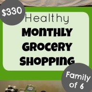 {Healthy} $330 Monthly Grocery Shopping Trip– March 2018– Price List + Video