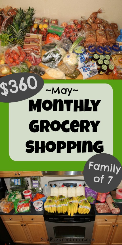 Curious how we feed our family of 7 on less than $400 per month? We start out with a giant monthly grocery shopping trip. This month we spent 90% of our grocery budget on our monthly shopping trip! Here's what we bought!