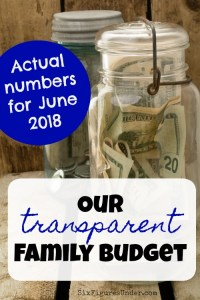 Transparent Family Budget Update — June 2018
