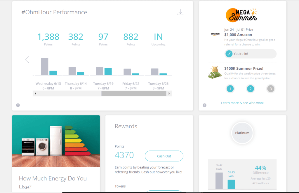 OhmConnect Dashboard