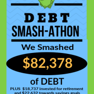 Debt Smash-athon AUGUST Progress Report
