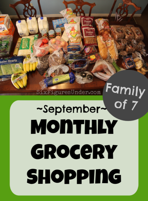 Want to see what a monthly grocery haul for a family of 7 looks like?