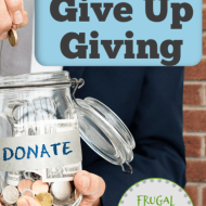 Don't Give Up Giving Even When Money is Tight