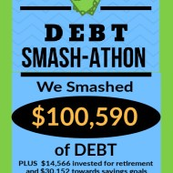 Debt Smash-athon JULY & AUGUST 2020 Progress Report
