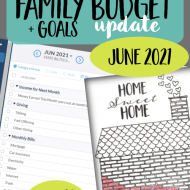 Real Family Budget Update- June 2021