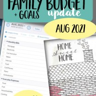 Real Family Budget Update- August 2021