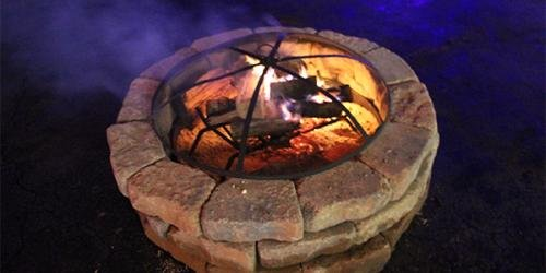 Fire pit for smores.