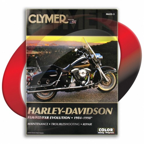 small resolution of 1984 1991 harley davidson fltc tour glide repair manual clymer m422 3 service