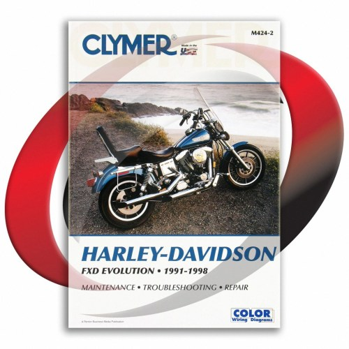 small resolution of 1993 1998 harley davidson fxdl dyna low rider repair manual clymer m424 2
