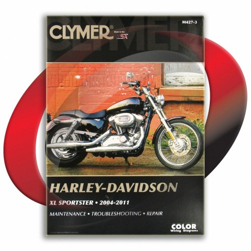 small resolution of 2004 2010 harley davidson xl883c sportster custom repair manual clymer m427 3