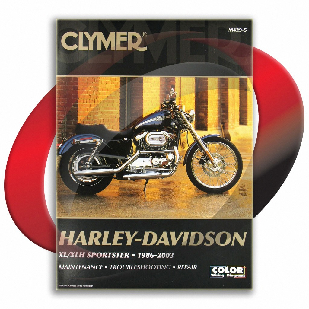 hight resolution of 1988 2003 harley davidson sportster xlh1200 repair manual clymer m429 5 service