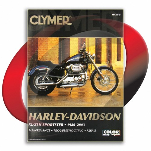 small resolution of 1988 2003 harley davidson sportster xlh1200 repair manual clymer m429 5 service