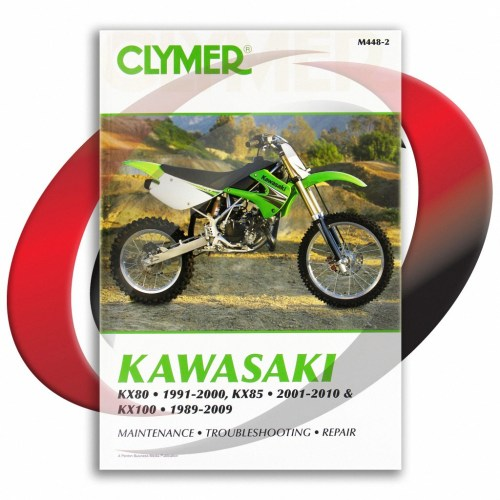 small resolution of 2001 2010 kawasaki kx85 and kx85 ii repair manual clymer m448 2 service shop
