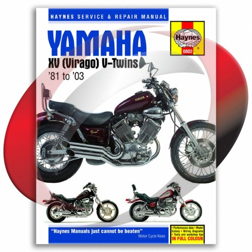 small resolution of 1981 1997 yamaha xv750 haynes repair manual 802 shop service garage maintenance