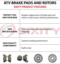 front rear organic brake pads 2009 2013 polaris ranger rzr 800 s set full xc [ 1200 x 1200 Pixel ]