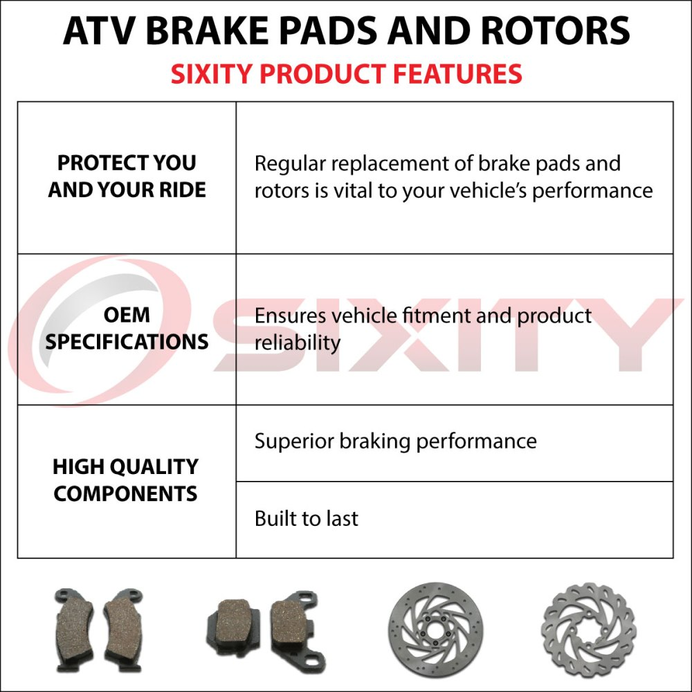 medium resolution of front rear organic brake pads 2009 2013 polaris ranger rzr 800 s set full xc