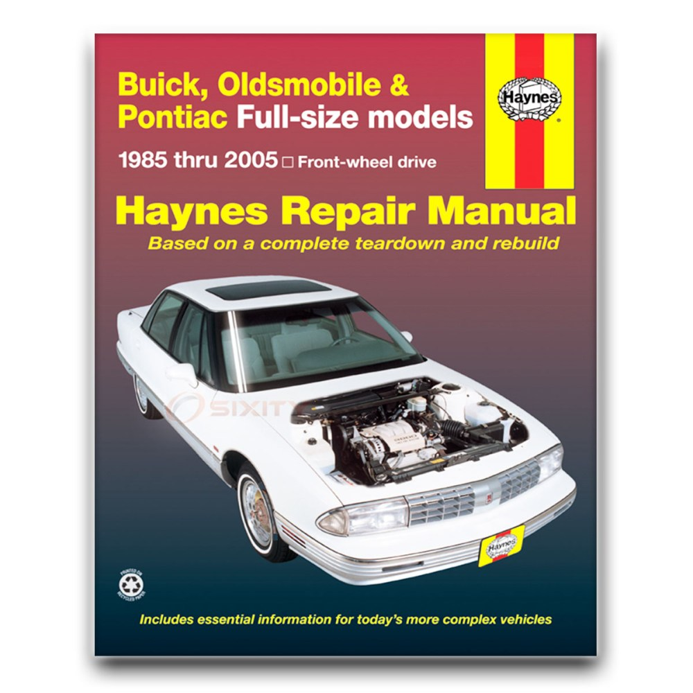 medium resolution of haynes repair manual for buick park avenue base ultra shop service garage oq