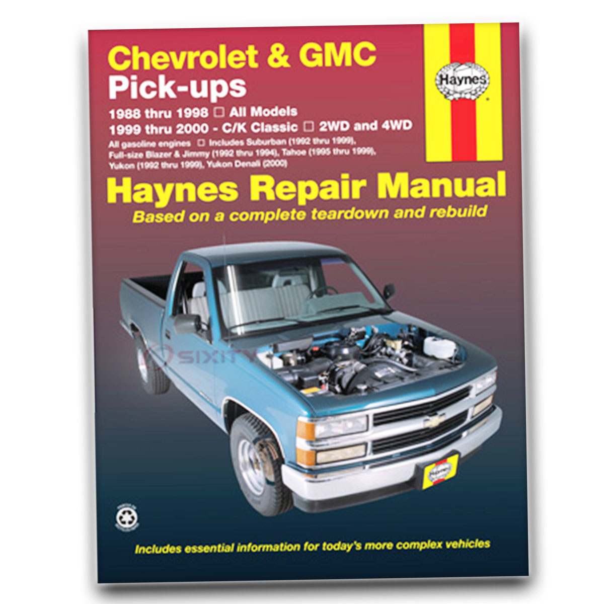 hight resolution of haynes repair manual for chevy k1500 suburban ls silverado lt base shop ne