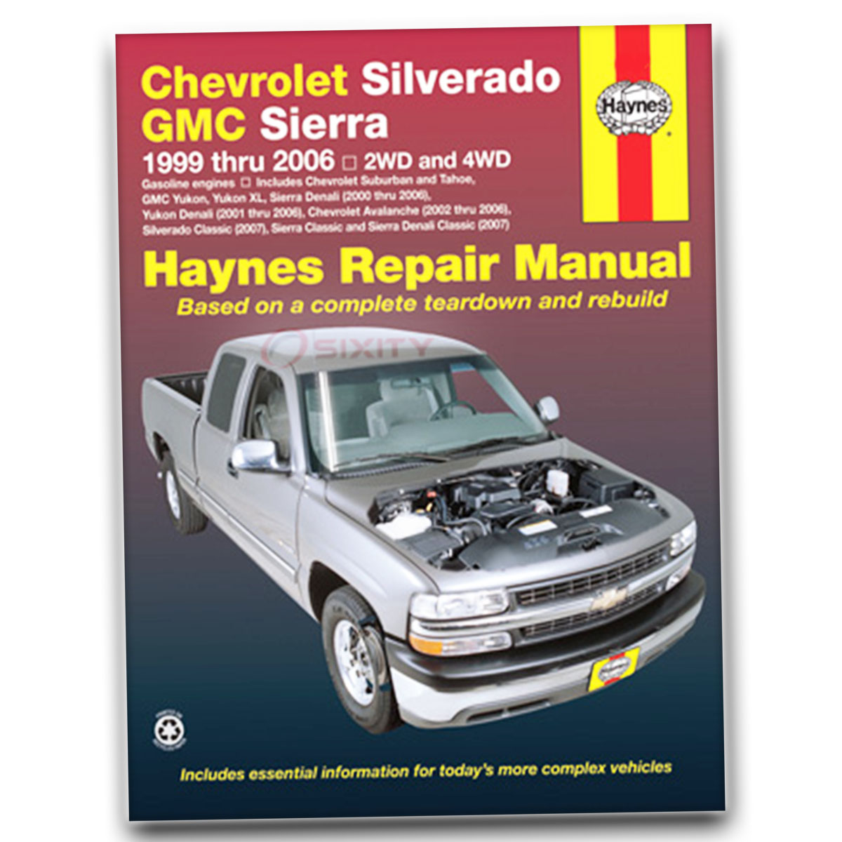 hight resolution of haynes repair manual for chevy silverado 1500 hd lt base ls shop service lb