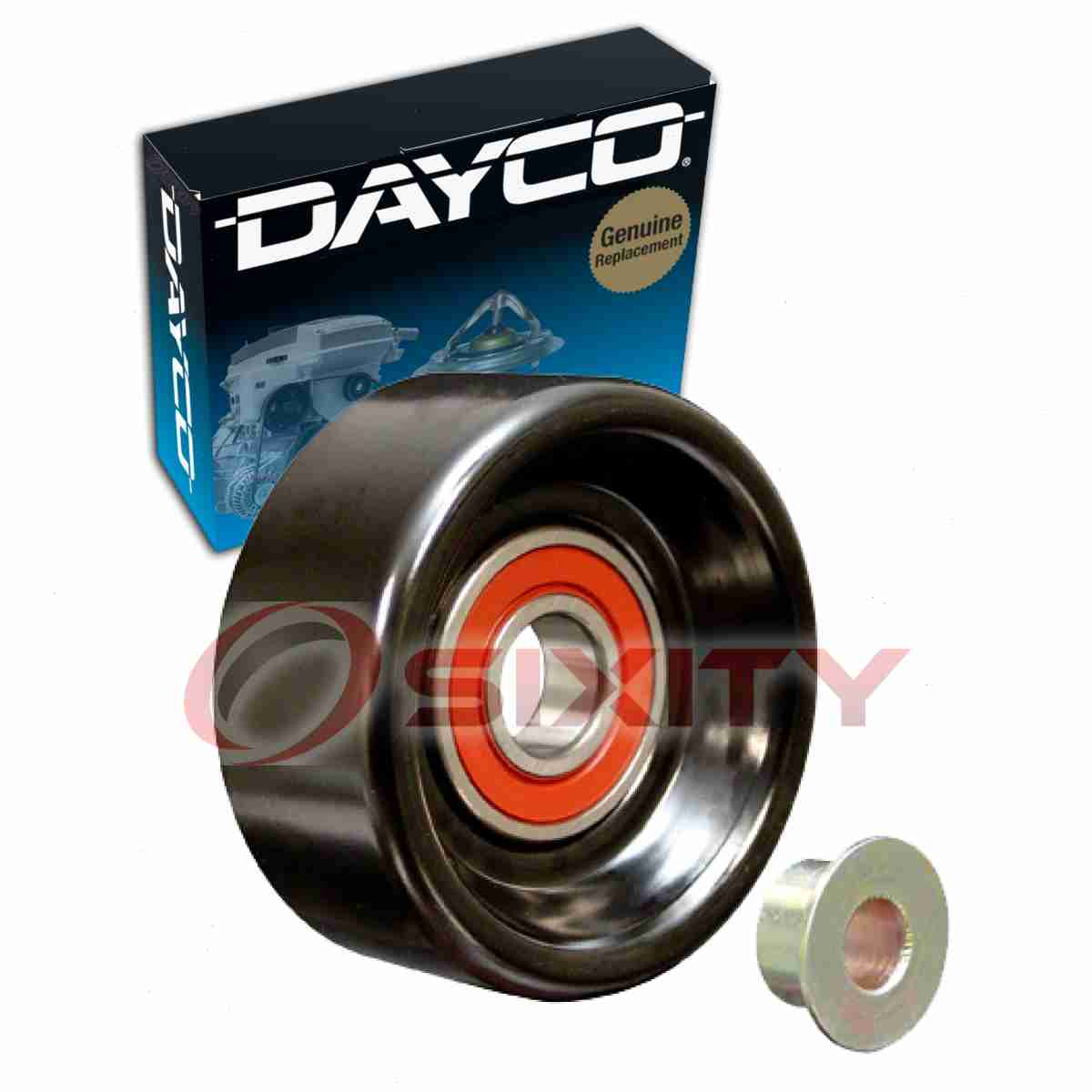 details about dayco smooth drive belt idler pulley for 2000 jeep cherokee 4 0l l6 smooth td [ 1200 x 1200 Pixel ]