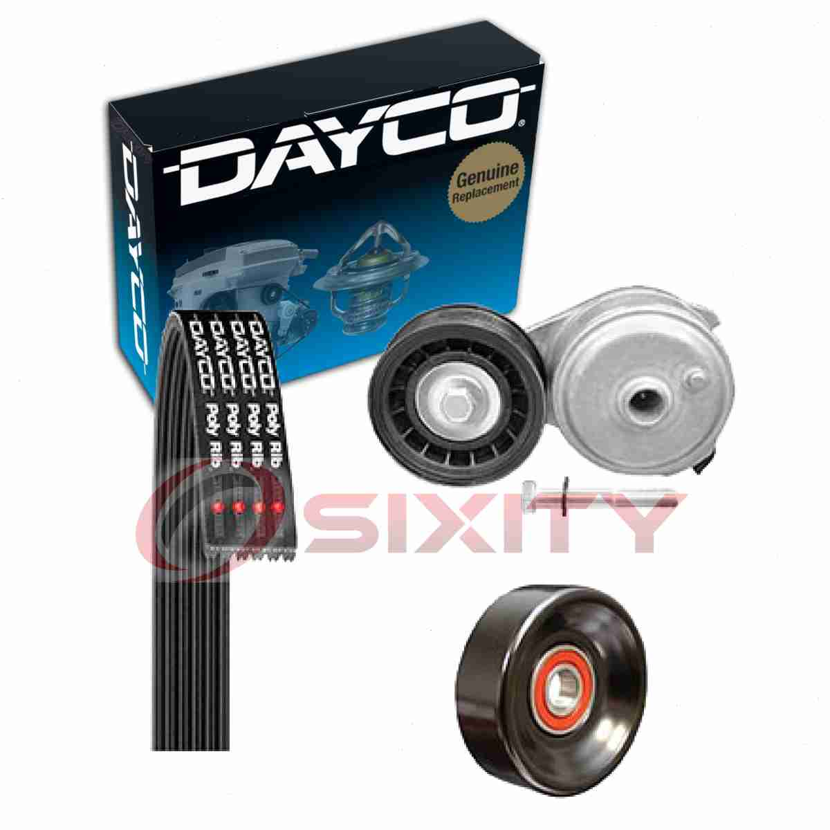 small resolution of details about dayco serpentine belt drive component kit for 1996 2000 chevrolet tahoe 5 7l vv