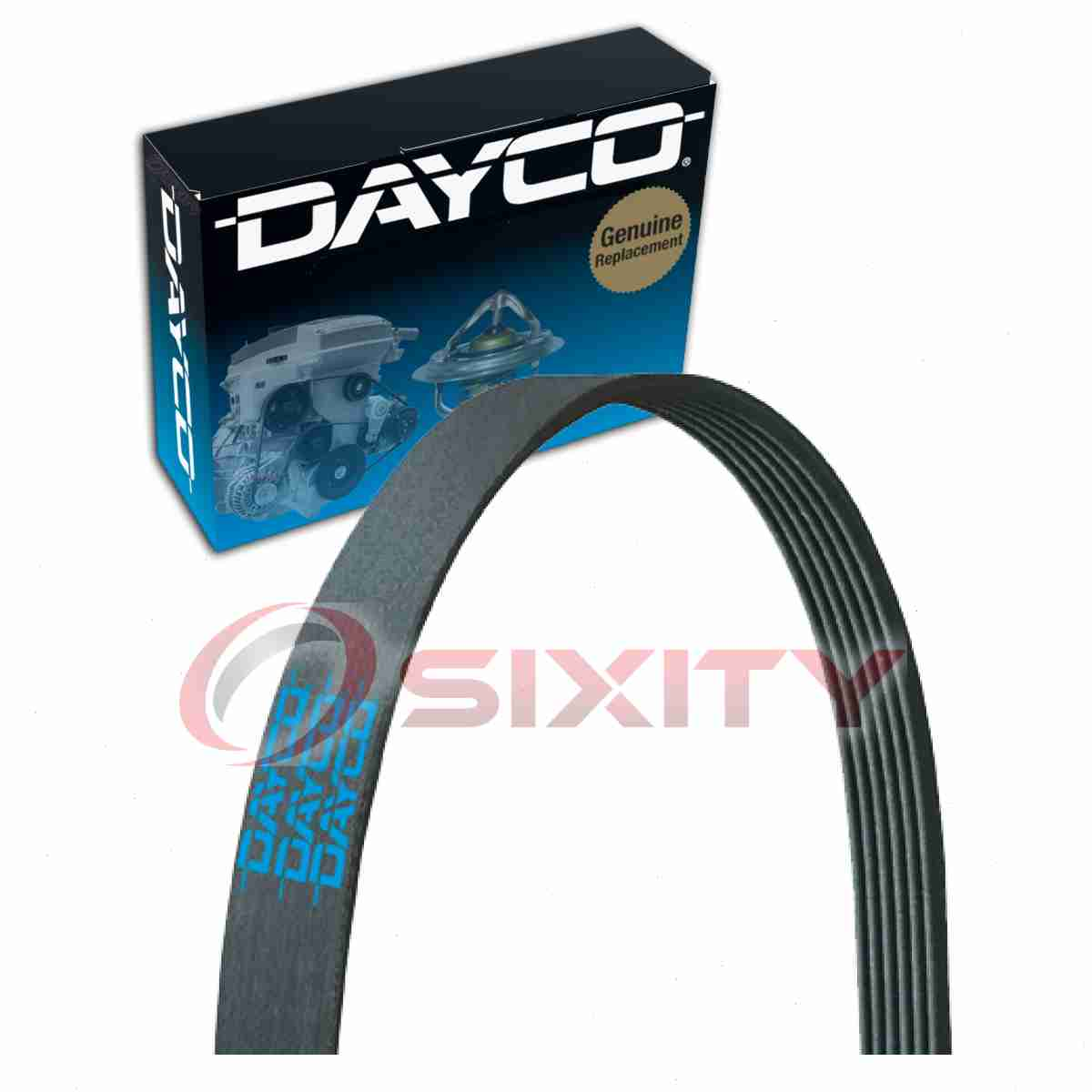 details about dayco serpentine belt for 1987 1990 jeep cherokee 4 0l l6 v belt ribbed fa [ 1200 x 1200 Pixel ]