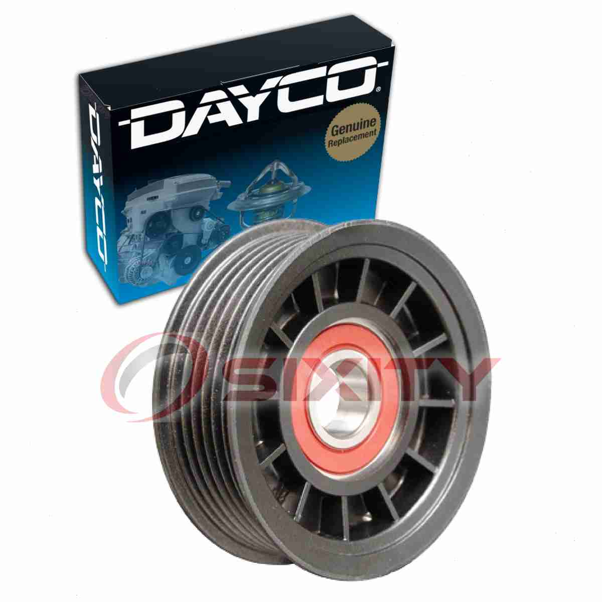 dayco grooved drive belt pulley for 1999 2010 jeep grand cherokee this jeep grand cherokee belt diagram is for model year 2005 with v6 3 [ 1200 x 1200 Pixel ]