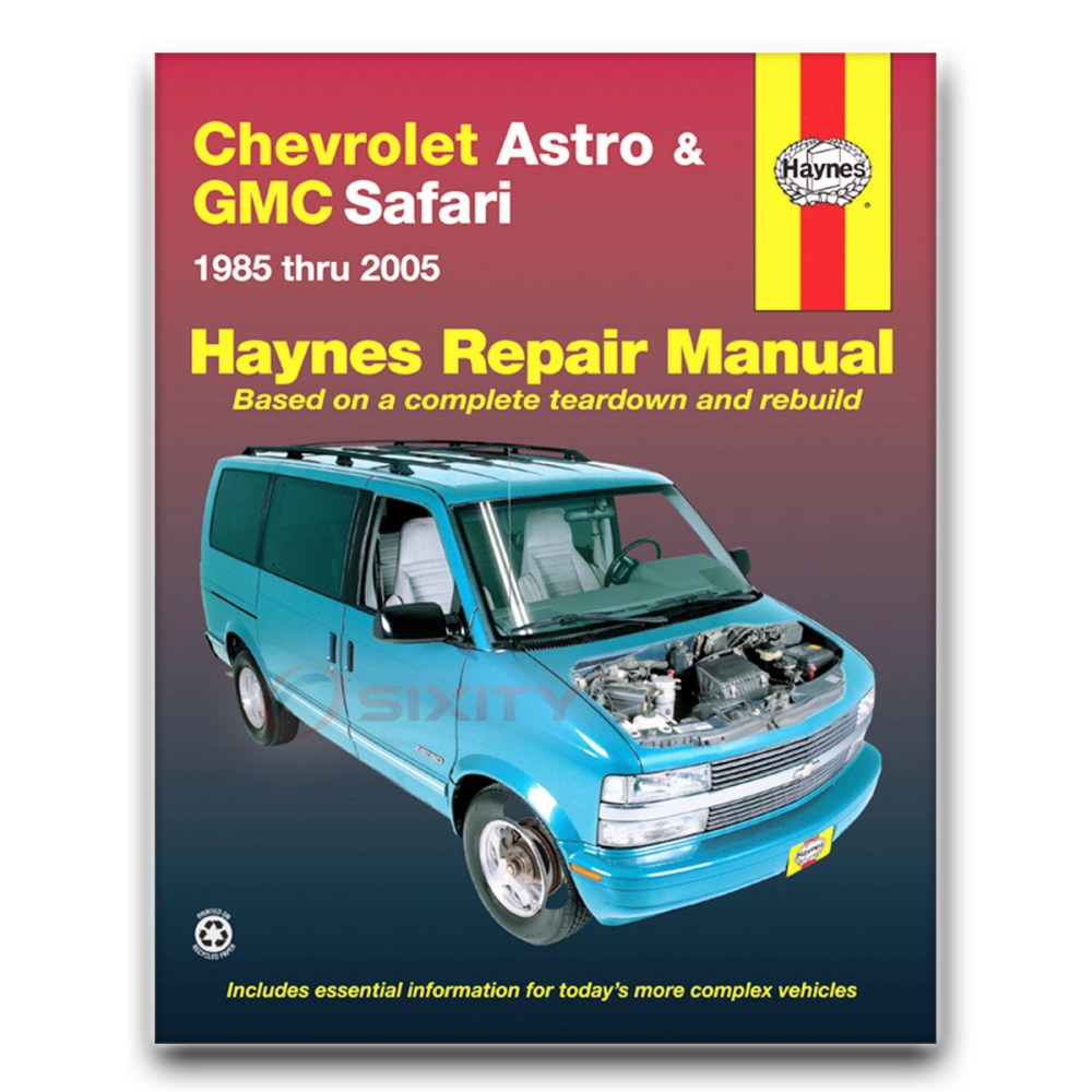 medium resolution of haynes repair manual 24010 for chevrolet astro gmc safari mini van astro van engine diagram astro van wiper wiring diagram