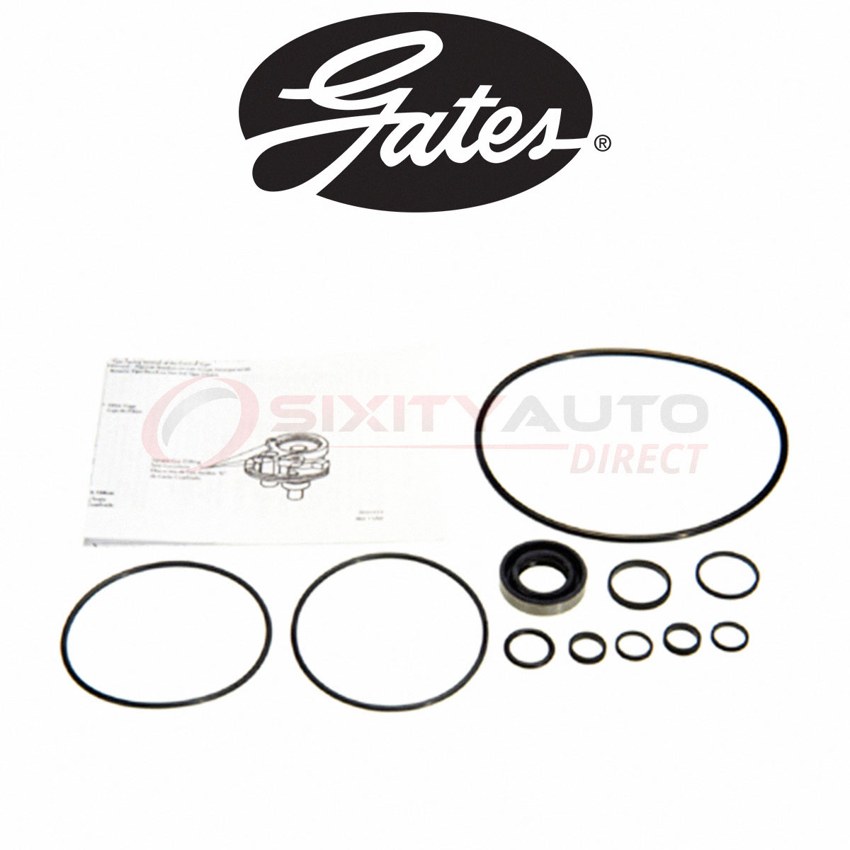 Gates Power Steering Pump Seal Kit For Ford E
